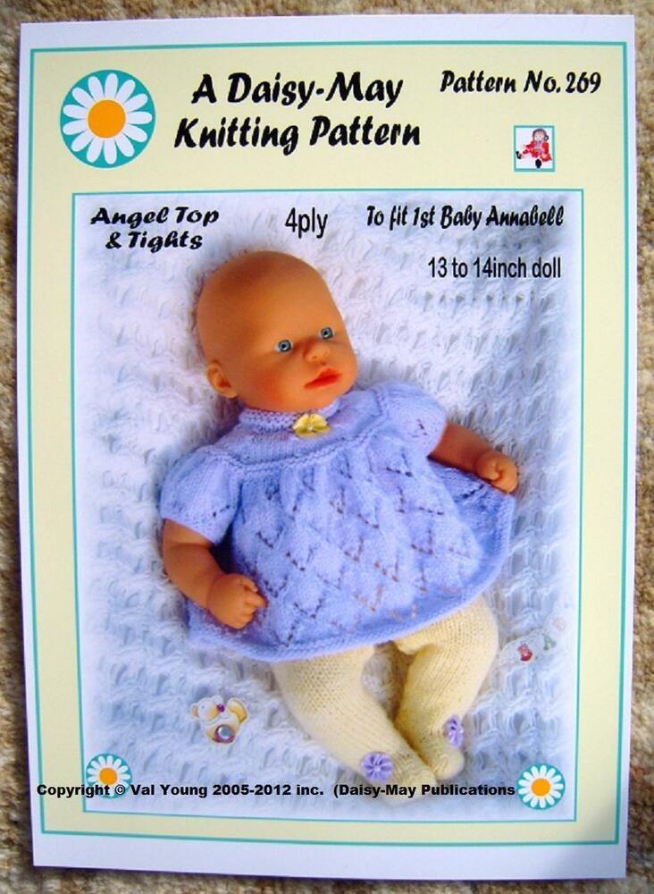 DOLLS KNITTING PATTERN 13-14 inch 1st Baby ANNABELL .No 269 by Daisy ...