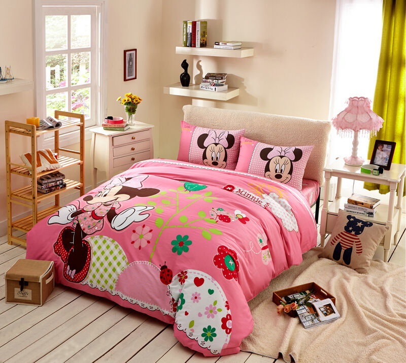 disney licensed minnie mouse 7pcs twin full queen size comforter in a bag mn3796 ebay. Black Bedroom Furniture Sets. Home Design Ideas