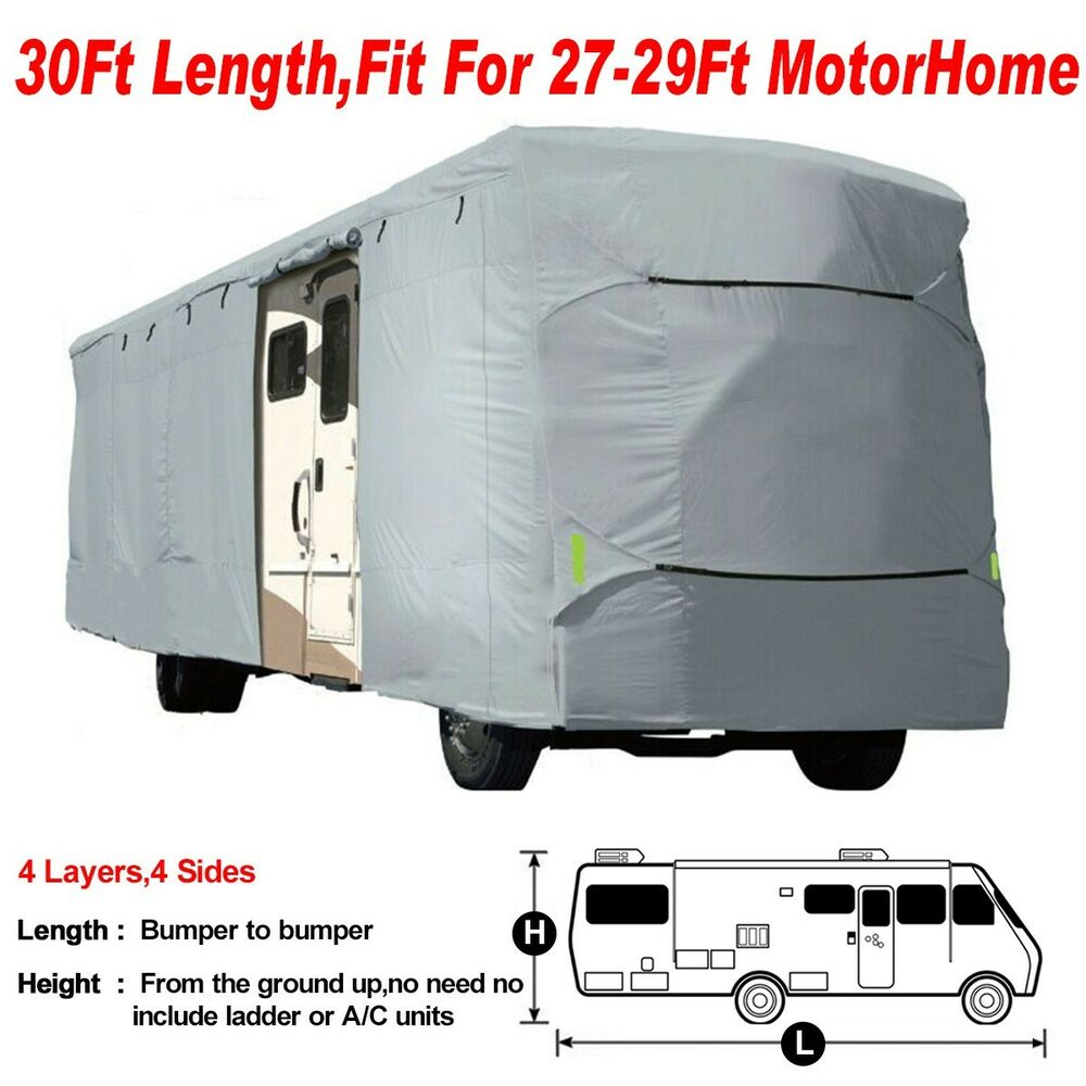 Deluxe Vented Rv Motorhome Camper Trailer Cover Uv