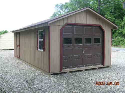 10x20 Metal Shed : Garage shed from jd new warranty wood