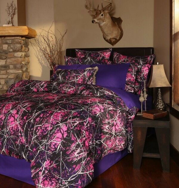 Pink Camouflage Bed Sheets