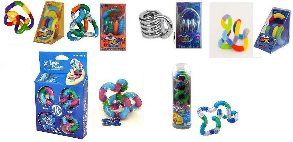 Toy For Adhd People : Tangle fidget sensory toy adhd autism textured metallic