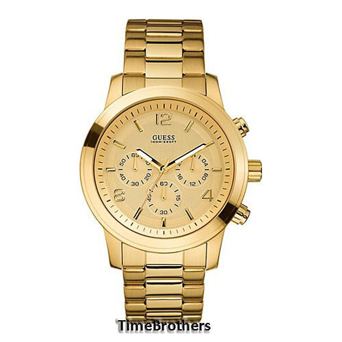 new guess watch for men chronograph all gold tone stainless new guess watch for men chronograph all gold tone stainless steel u15061g2