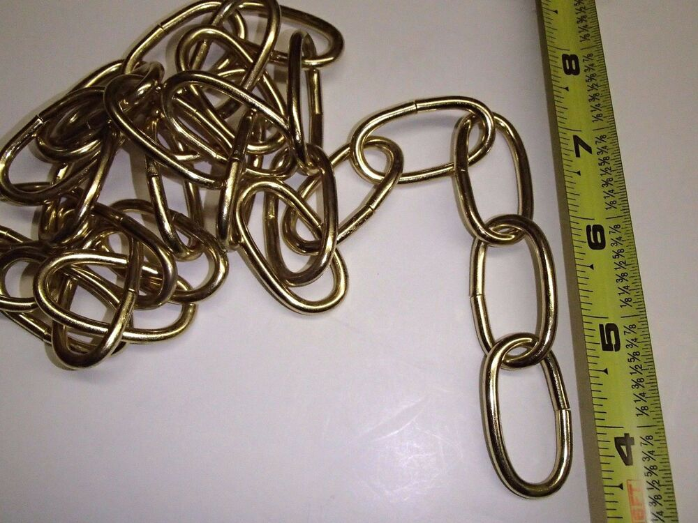 BRASS PLATED CHANDELIER CHAIN HANGING LAMP LIGHT PARTS 36