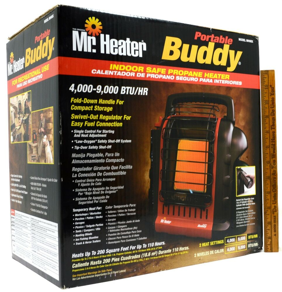 Brand New In Box Mr Heater Portable Buddy Mo Mh9bx