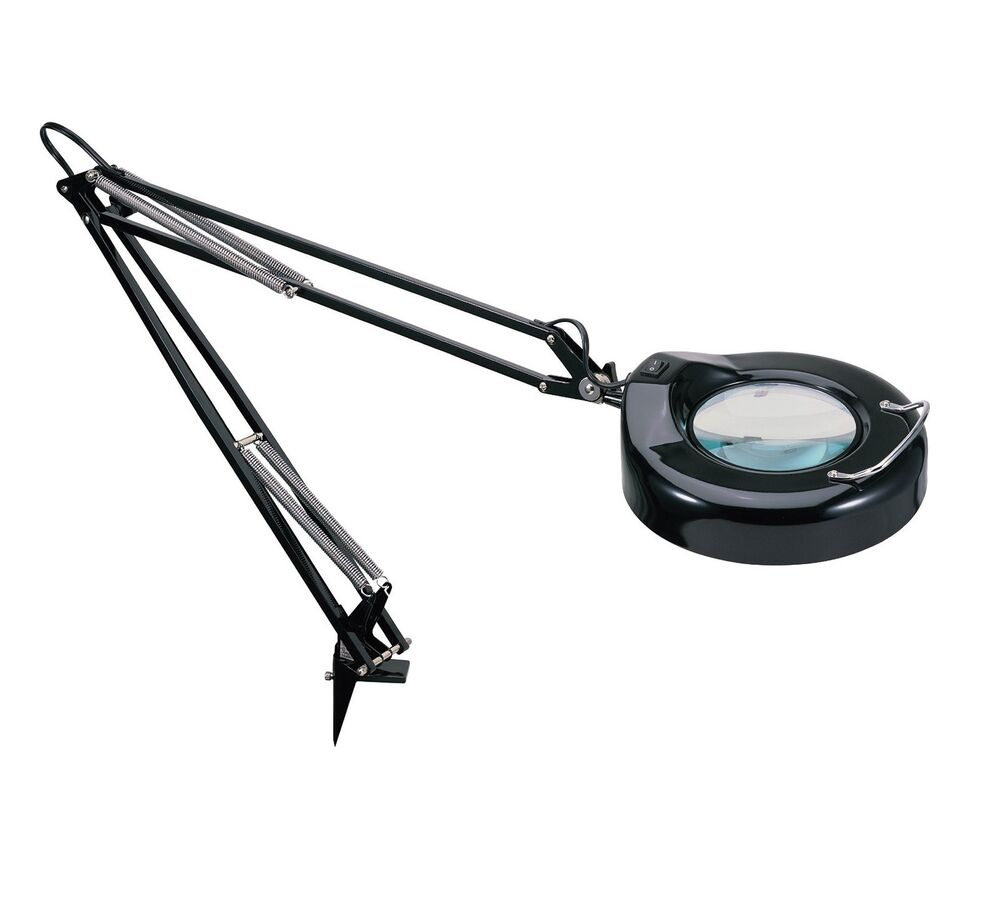 Desk Magnifying Glass : Table magnifier lamp desk magnifying glass worklight loupe