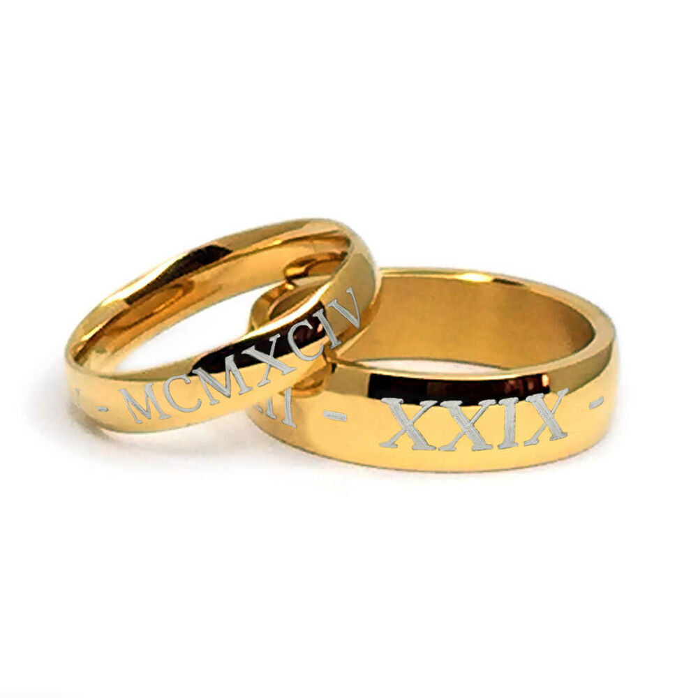 his and her personalized anniversary ring sets gold tone. Black Bedroom Furniture Sets. Home Design Ideas