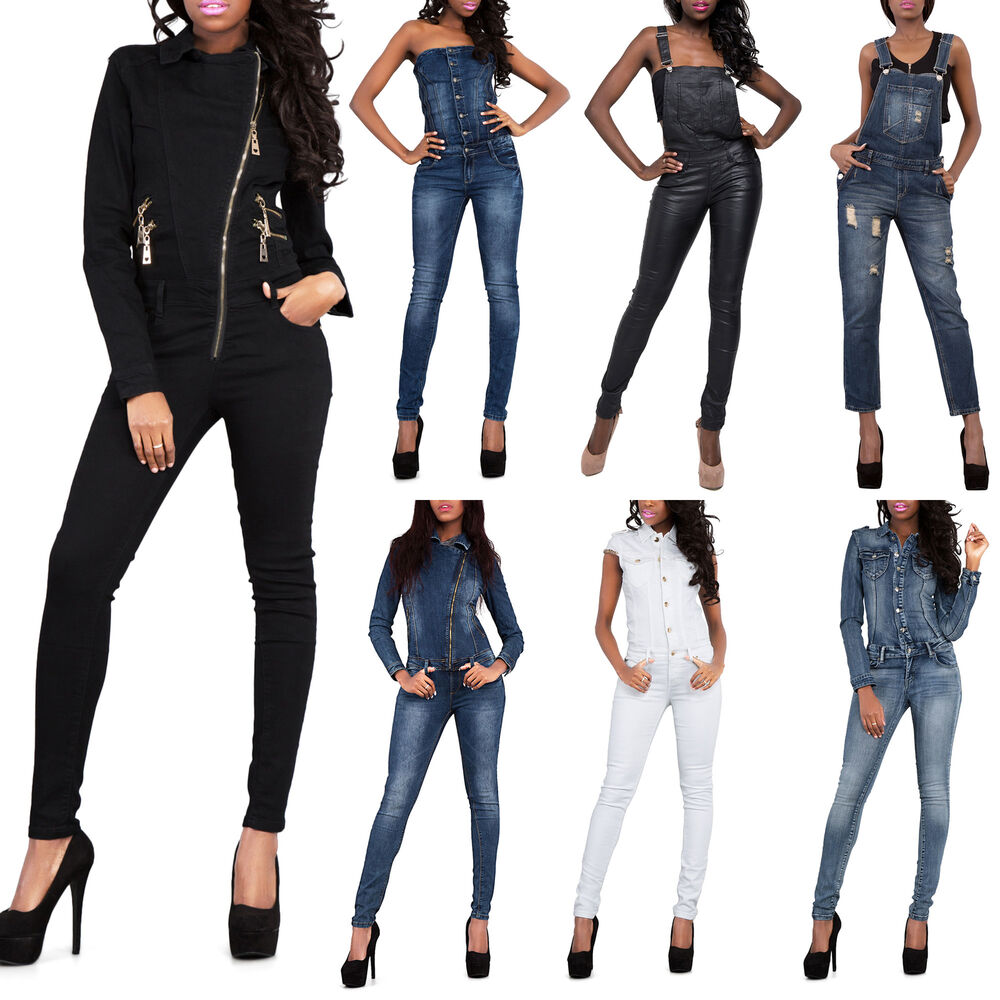 sexy damen camouflage army print jumpsuit catsuit denim skinny jeans gr 6 14 ebay. Black Bedroom Furniture Sets. Home Design Ideas