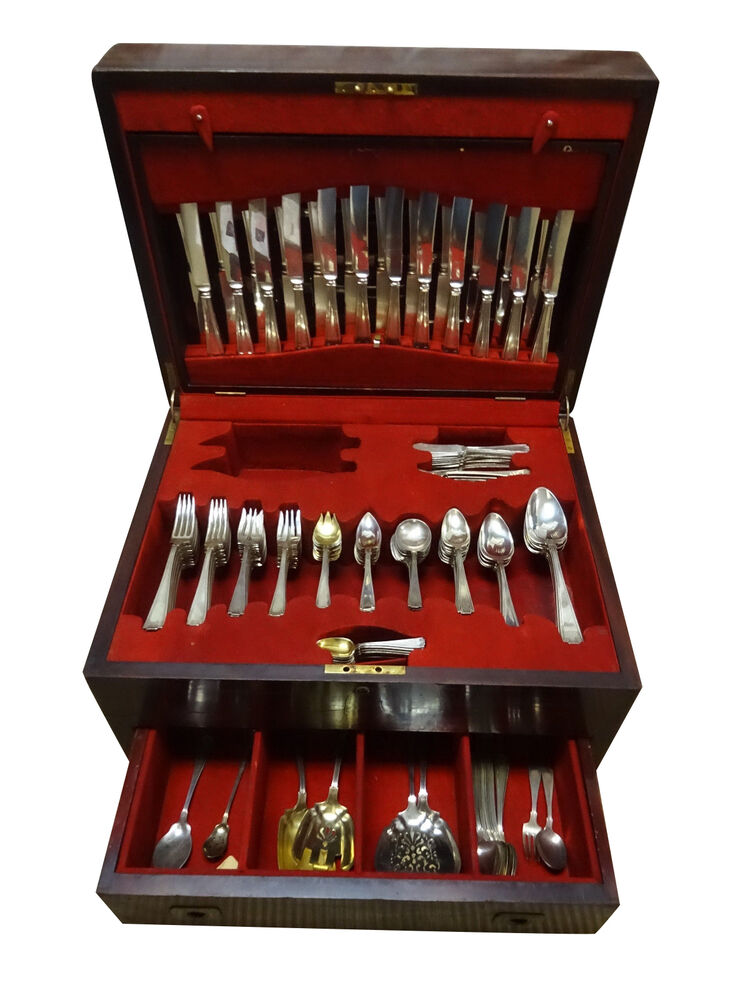 Etruscan by Gorham Sterling Silver Flatware Set 12 Service ...