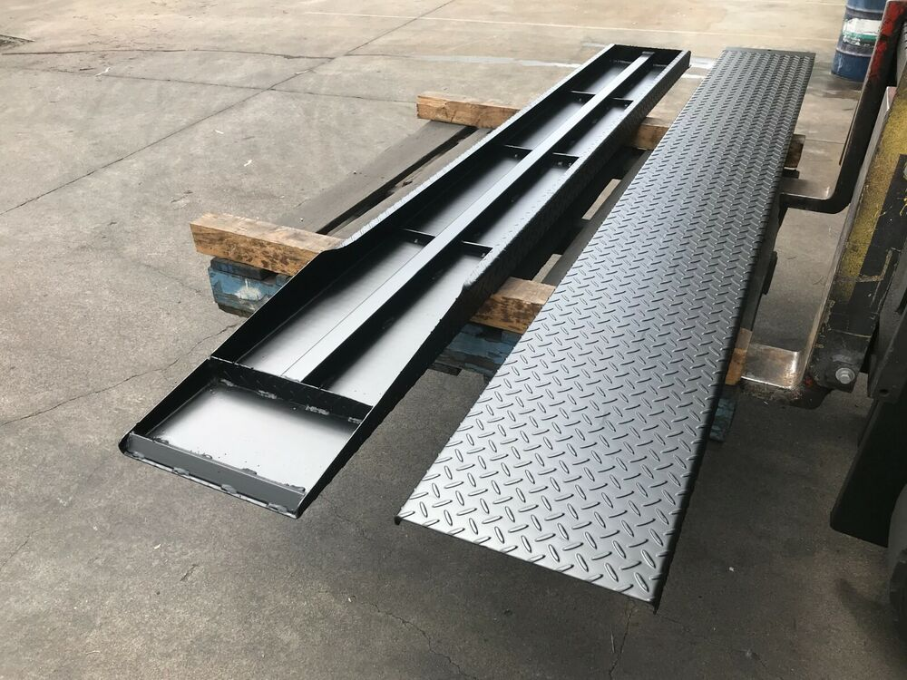 Pair of loading ramps for tandem car trailer suit 12 14 for 4 box auto in tandem