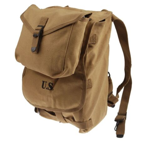 img-WW2 WWII US Army M1928 Haversack Knapsack Backpack Bag