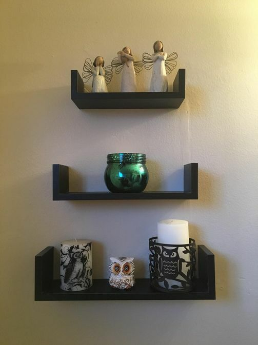 shabby chic set of 3 wall floating shelves available in. Black Bedroom Furniture Sets. Home Design Ideas