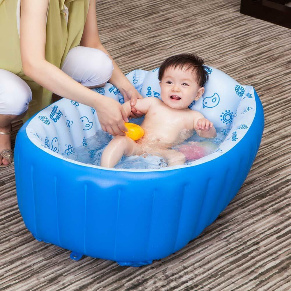 portable baby kid toddler bath tub inflatable bathtub. Black Bedroom Furniture Sets. Home Design Ideas