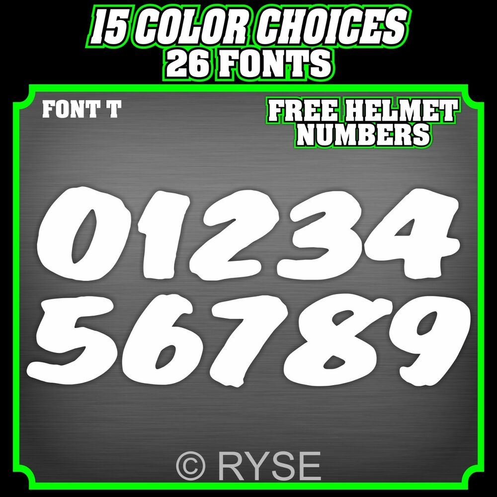 Race Bike Number Font - Mary Rosh