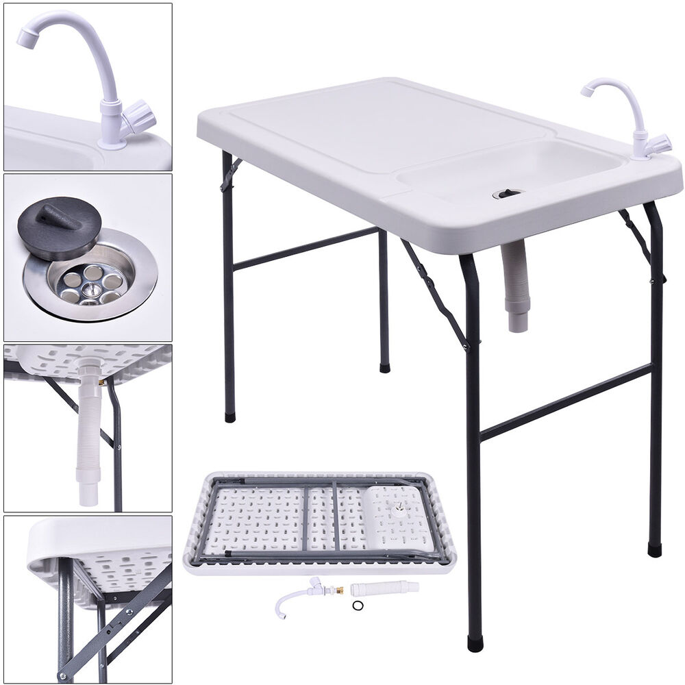 Camp Kitchen With Sink: 2017 Folding Portable Fish Table Hunting Cleaning Cutting