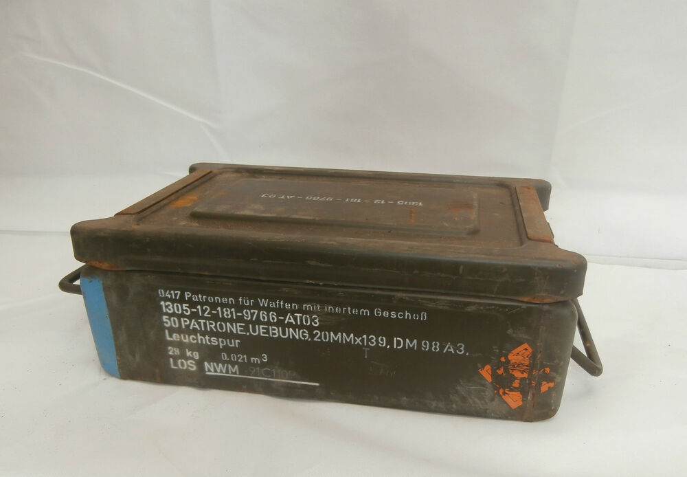 Details about German Army C32 Ammo Box Tool Box Heavy Duty Storage Box Army  Military Surplus dddc9b64d41