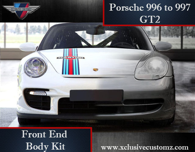 porsche 911 996 to 997 gt2 front end body kit conversion ebay. Black Bedroom Furniture Sets. Home Design Ideas