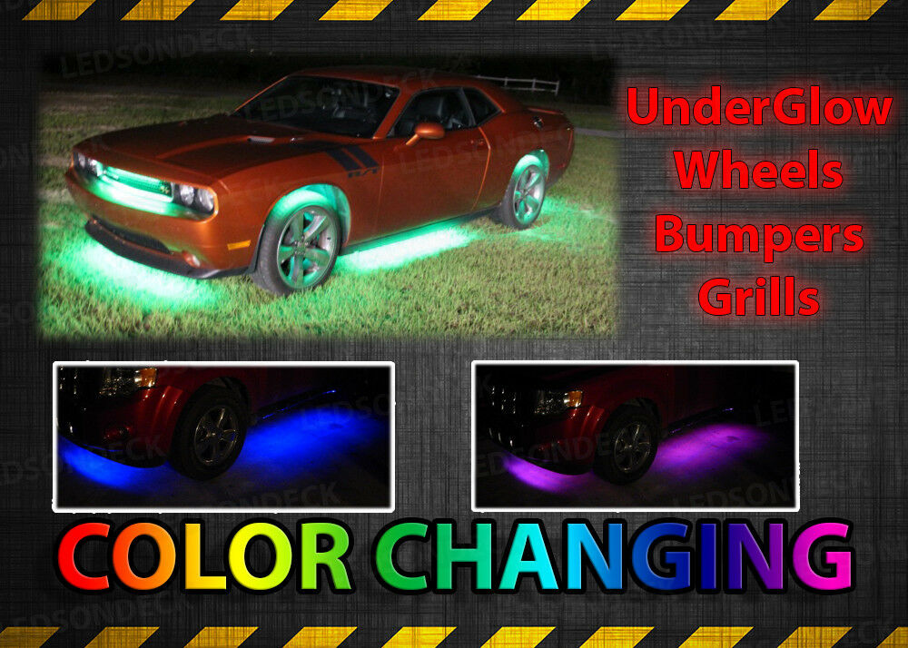 8pc Full Color Underglow Ground Effect Led Neon Lighting