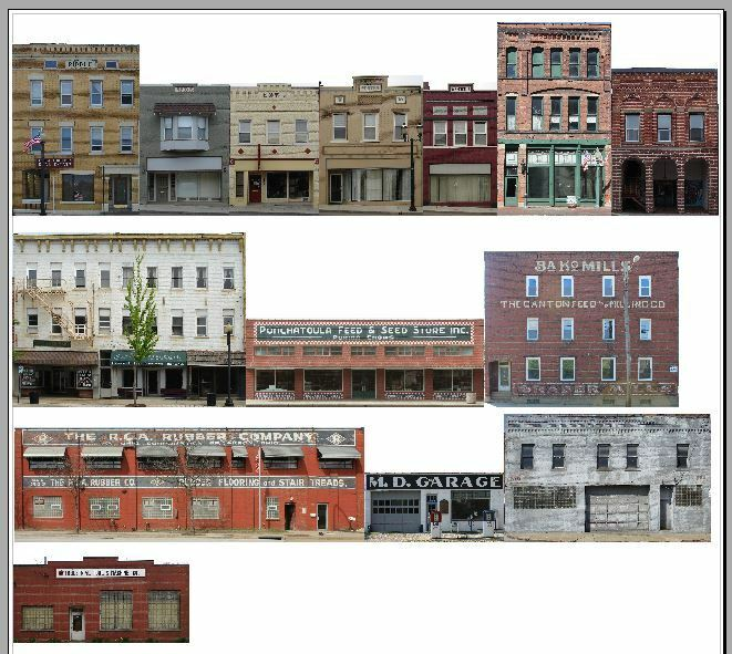 Crafty image inside free printable ho scale buildings