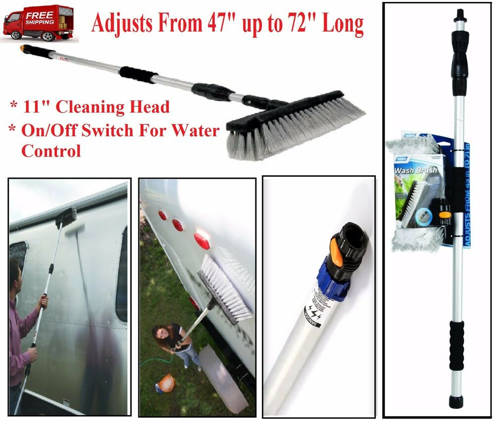 Rv Cleaning Tools : Car wash brush quot telescoping handle soft cleaning head