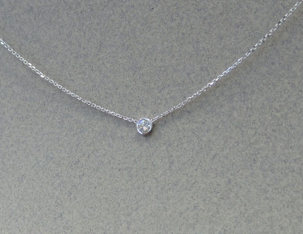 K Gold  Ct Diamond Solitaire Necklace