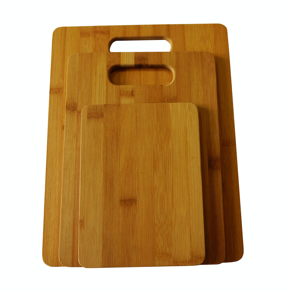 3 Set Piece Bamboo Cutting Board Totally Kitchen Wood Chopping Boards New Ebay