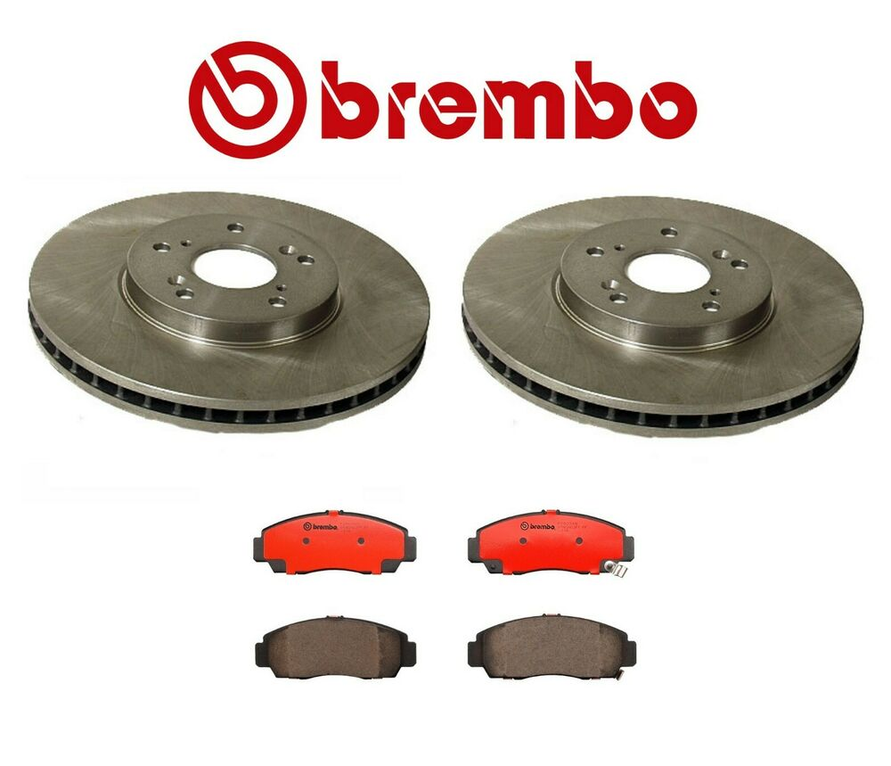 2 front disc brake rotors and pads kit fits acura cl tl. Black Bedroom Furniture Sets. Home Design Ideas