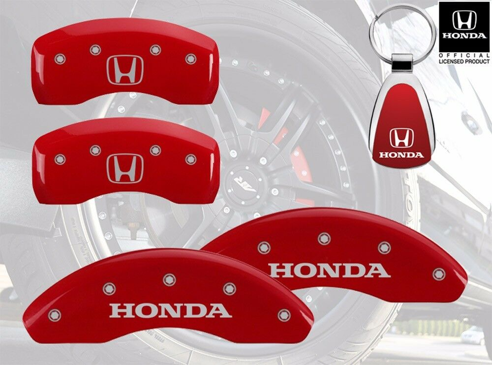 2008 2012 honda accord logo red brake caliper covers front rear keychain ebay. Black Bedroom Furniture Sets. Home Design Ideas