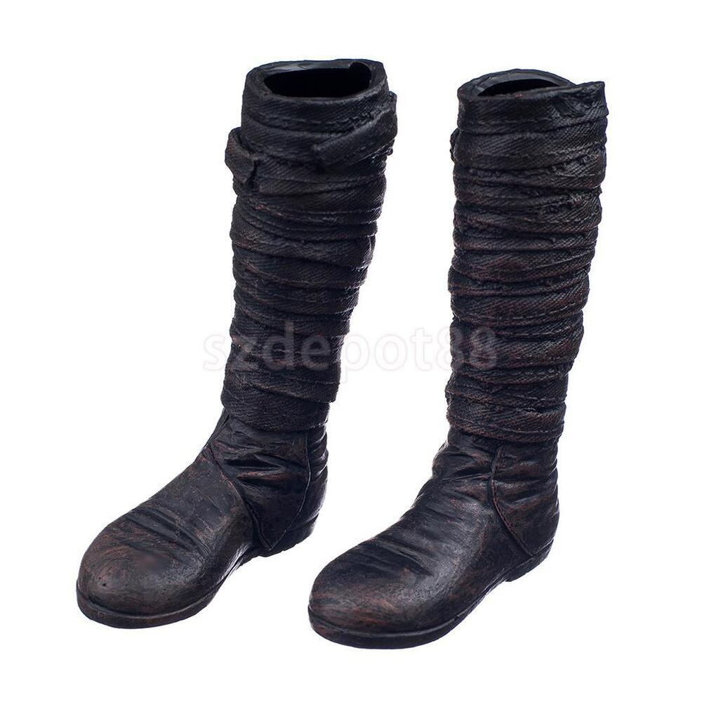 1/6 Combat Knee High Boots Shoes Accessories For 12u0026quot; Male Action Figure | EBay