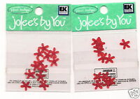 Jolees by you Embellishment Red wax flowers 2-12pk scrapbook crafts __F2