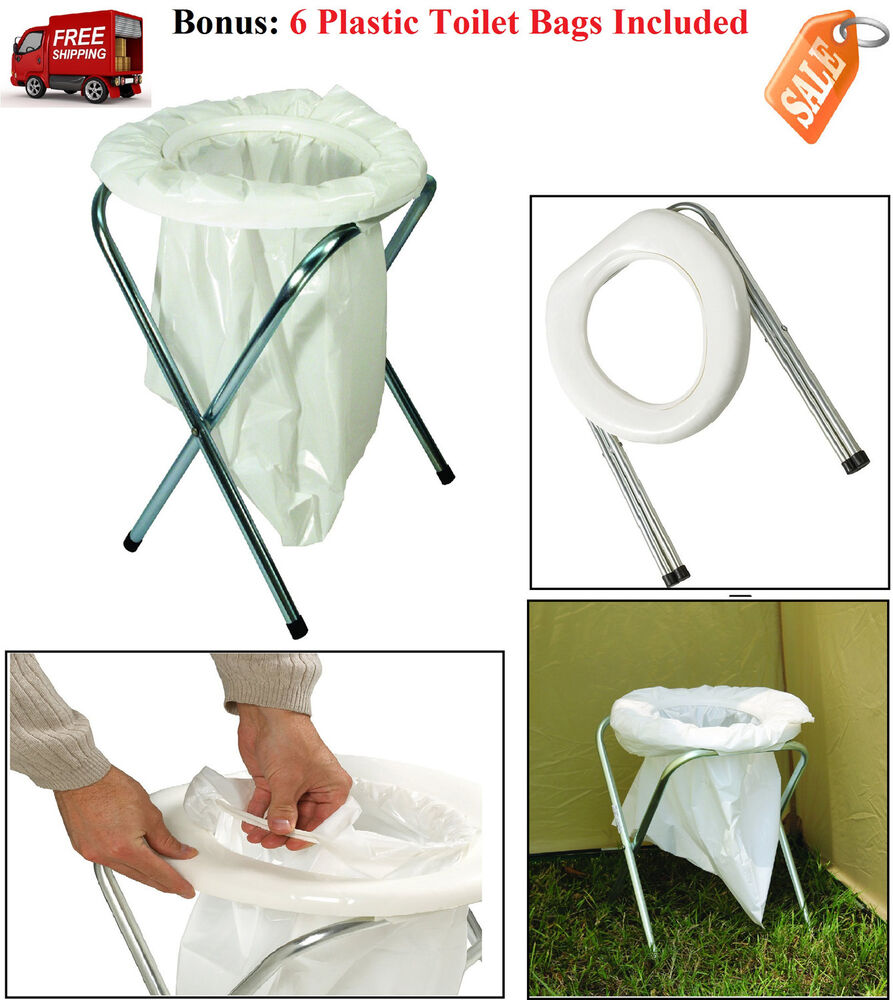 Portable Camping Toilet Compact Folding Travel Potty Chair