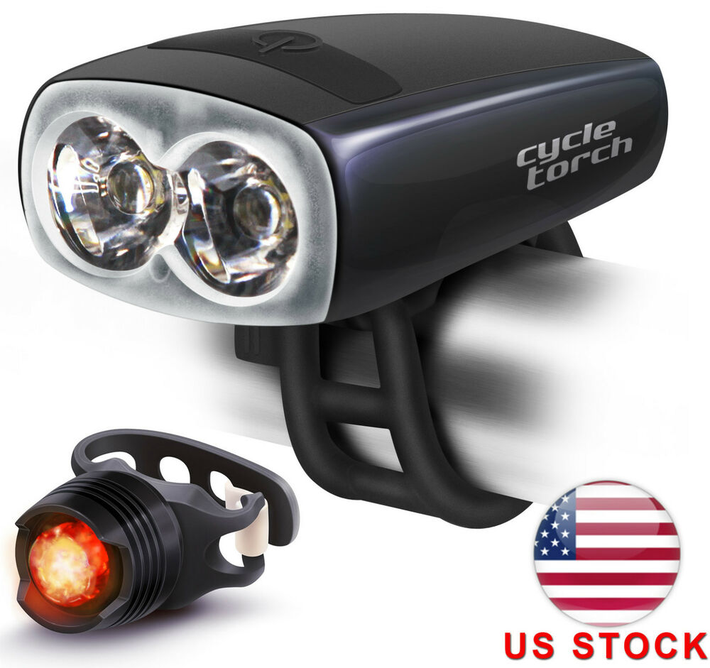 Cycle Torch USB Rechargeable Bicycle Light, Water ...