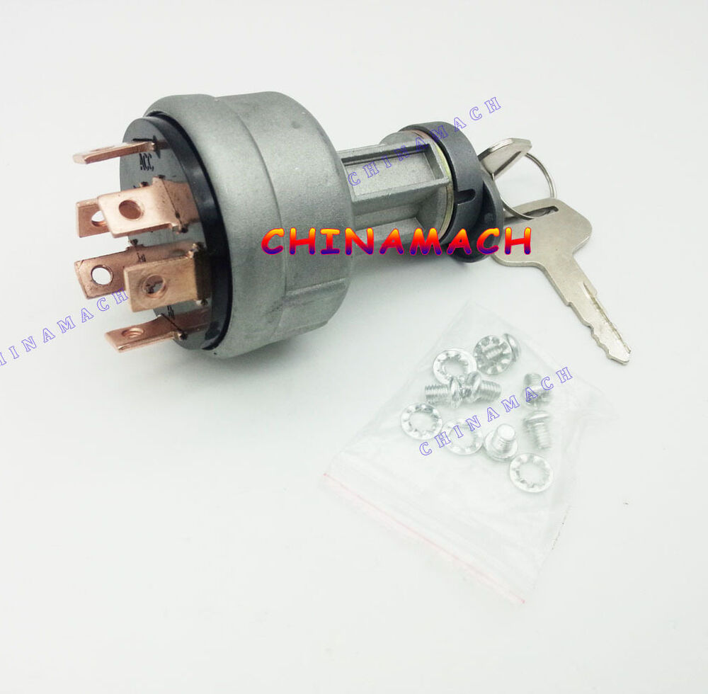 New Starter Ignition Switch For Komatsu Wb140 Wb150