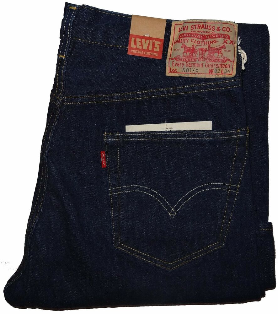 levi 39 s men 39 s vintage clothing 1955 501xx new rinse jeans. Black Bedroom Furniture Sets. Home Design Ideas