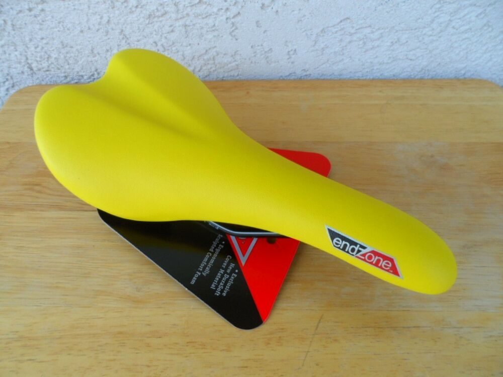 NEW EndZone YELLOW BIKE SEAT Racing Fixie Road Saddle Bicycle