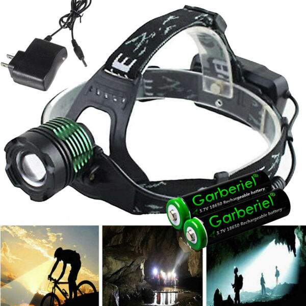 90000LM UltraFire Tactical Headlamp T6 LED Head Light +18650 Battery +US Charger
