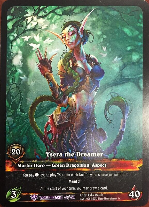 Artistic Aspects : World of warcraft wow tcg epic extended art ysera the