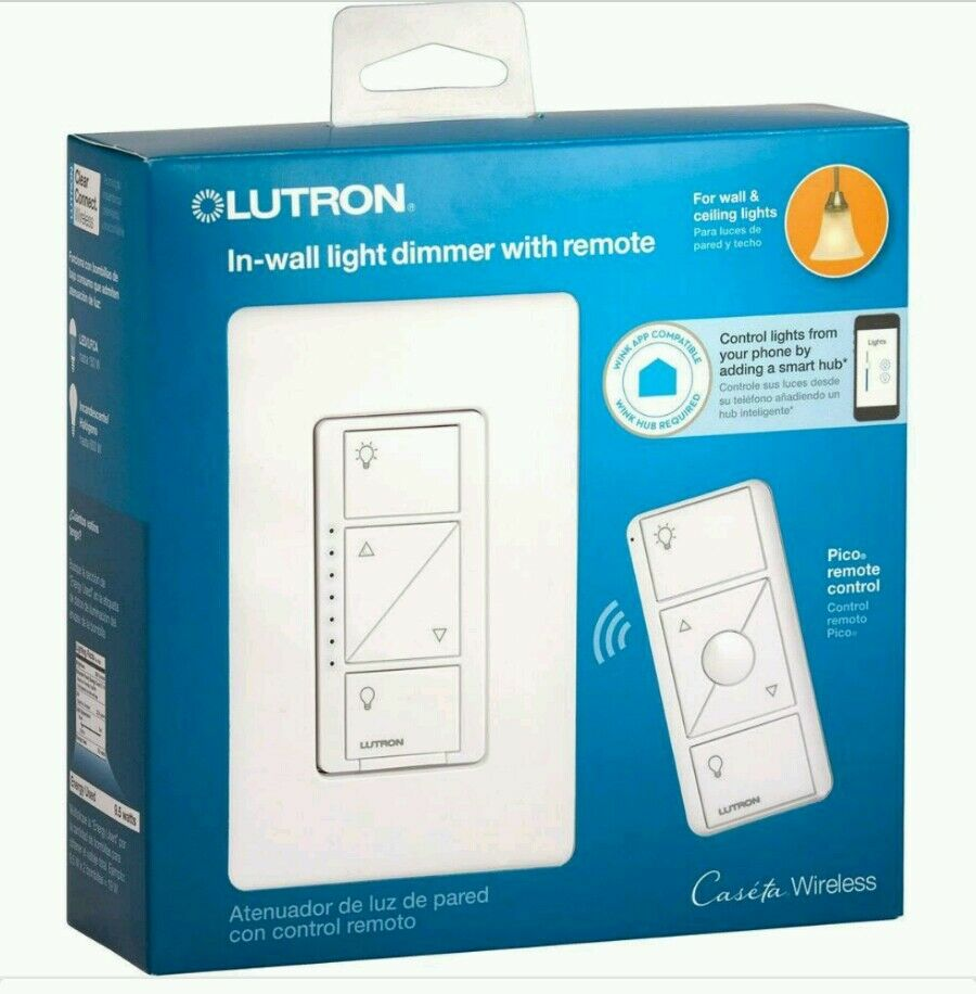 lutron caseta wireless 600 150 watt multi location in wall dimmer with pico re ebay. Black Bedroom Furniture Sets. Home Design Ideas