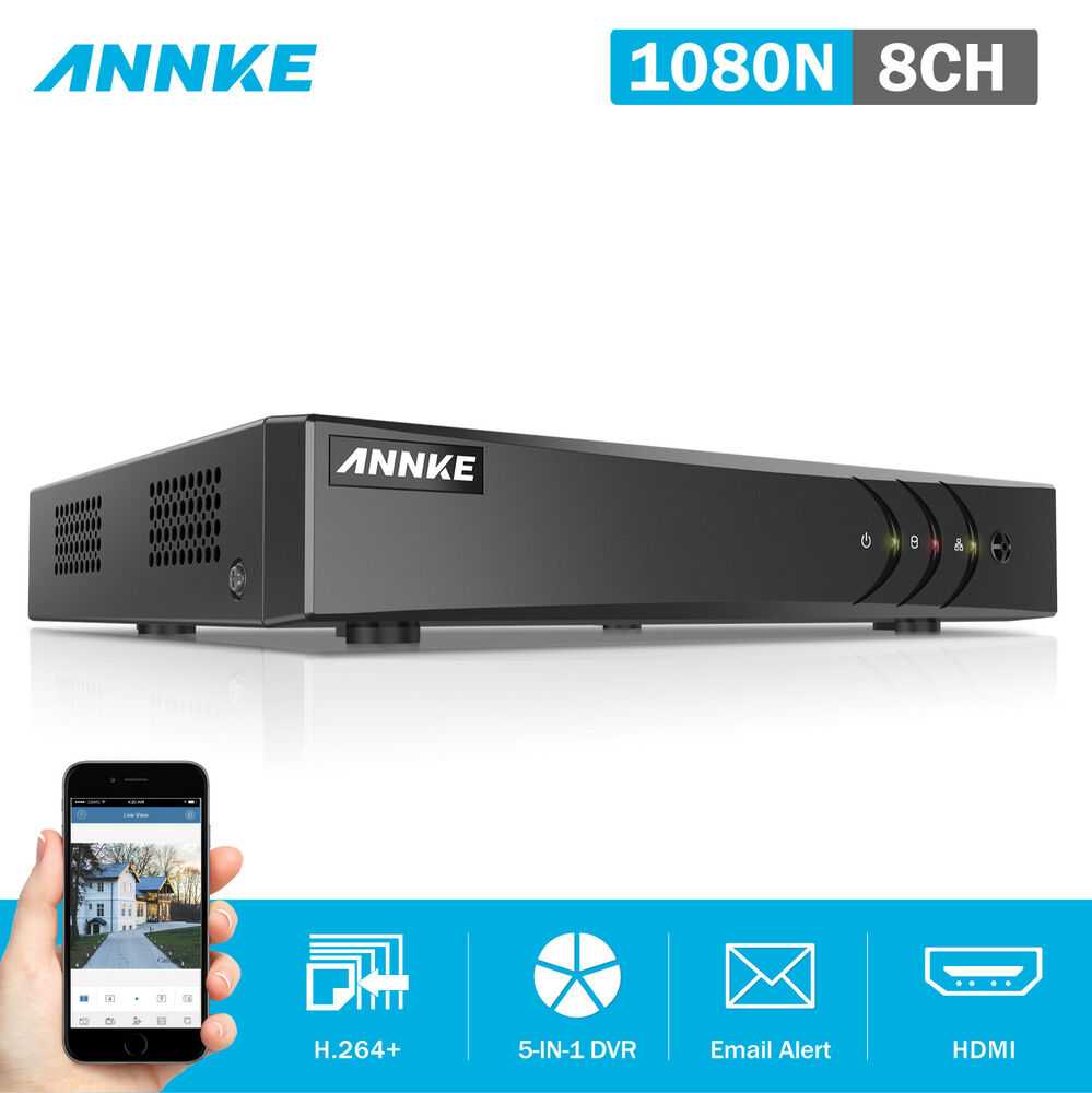 SANNCE 8CH HD 1080N 5in1 HDMI DVR Video Recorder for CCTV ...