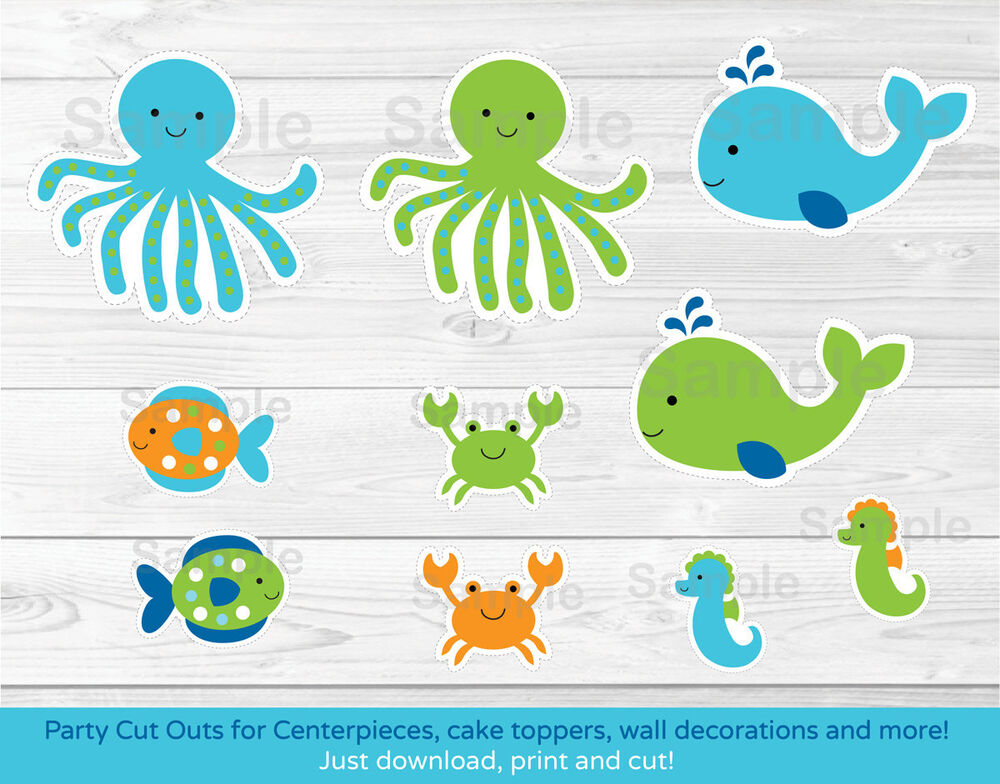 This is a graphic of Fan Under the Sea Printable