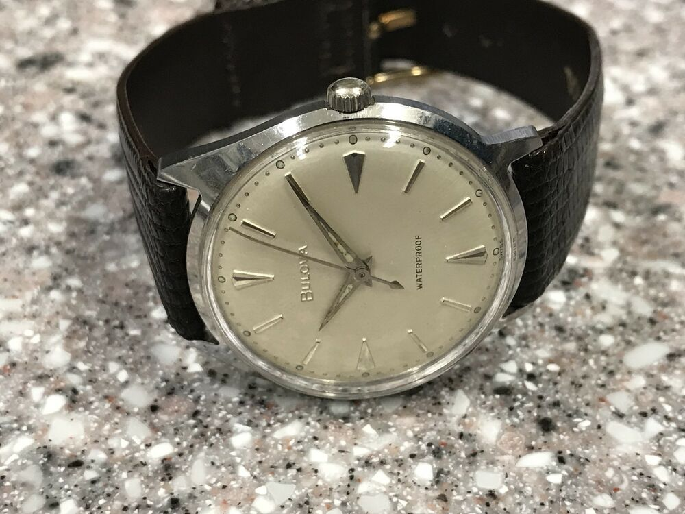 Vintage 1962 ss bulova early waterproof anti magnetic watch serviced ebay for Magnetic watches