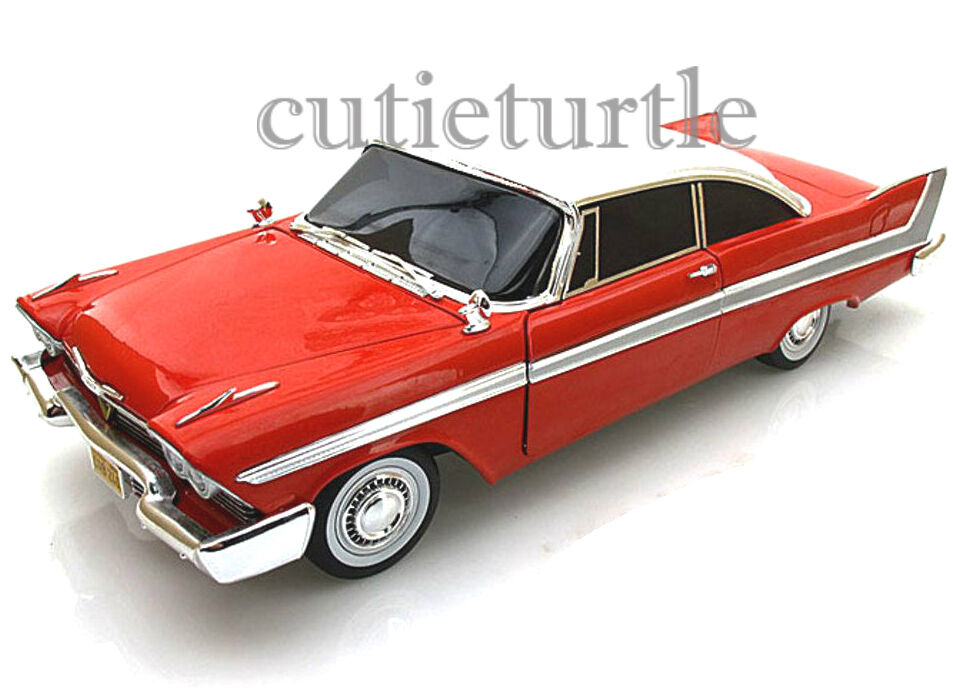autoworld 1958 plymouth fury christine 1 18 diecast model. Black Bedroom Furniture Sets. Home Design Ideas
