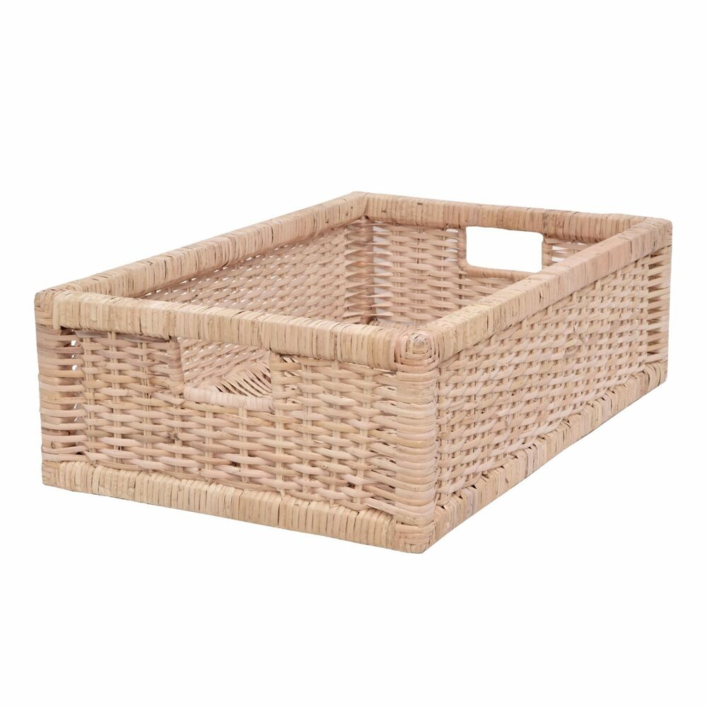 storage baskets for shelves rattan storage basket shelf storage drawer basket 28673