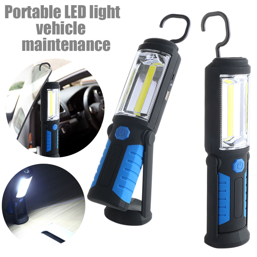 Led Work Light Magnet Lamp Torch Rechargeable Cordless: COB+5 LED Rechargeable Work Light Flexible Inspection Lamp