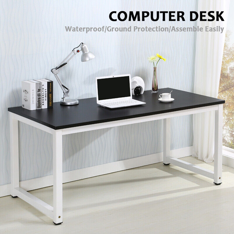 wood computer desk pc laptop table workstation study home. Black Bedroom Furniture Sets. Home Design Ideas