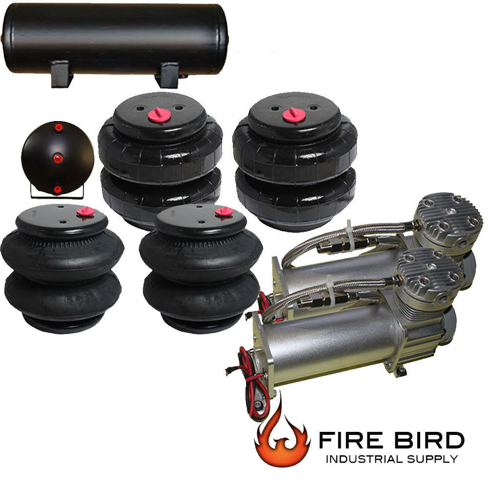 Air ride suspension parts dual air compressor four air for Suspension multiple cuisine
