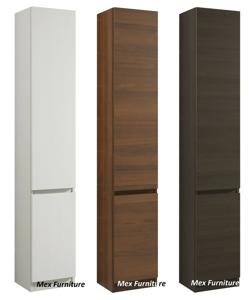 Modern 175cm tall bathroom storage cabinet matt finish - Tall bathroom storage cabinets with doors ...