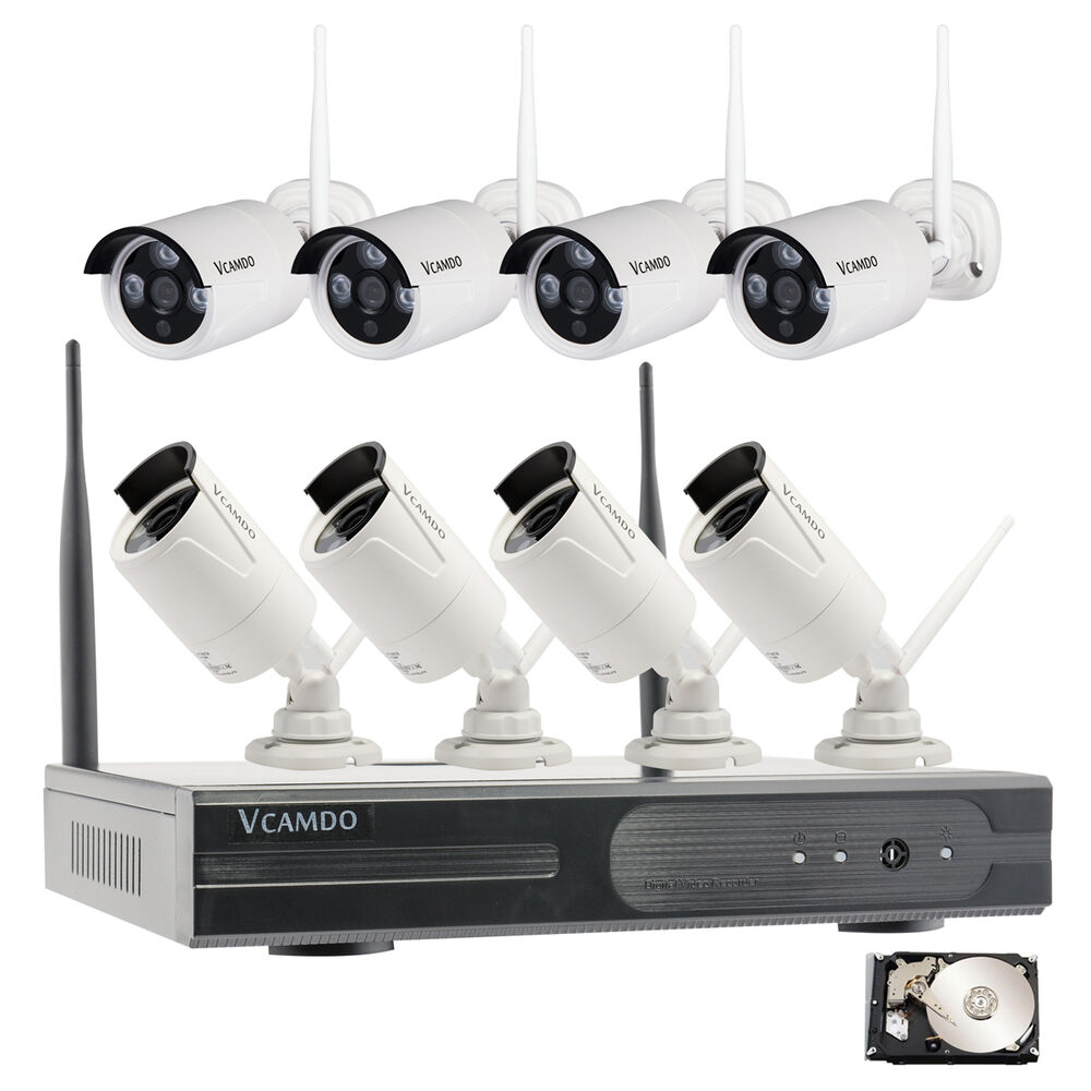 8 ch outdoor wireless ip camera cctv system motion detector with 2tb hard drive ebay. Black Bedroom Furniture Sets. Home Design Ideas