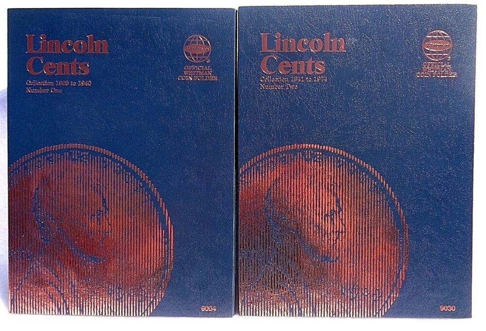 Whitman Lincoln Cent 1 Amp 2 1909 1974 Coin Folders Albums Books Ebay