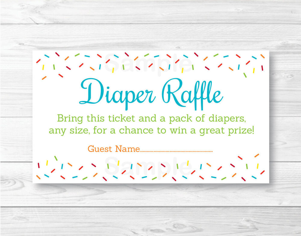 Punchy image within diaper raffle tickets printable